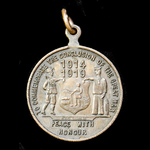 Great War 1919 Peace Commemorative Medal issued by Johannesburg, Tranvaal, South Africa, bronze, ...