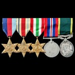 Second World War Middle East and Italy, and Territorial long service group awarded to Warrant Off...