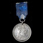 A scarce Natal Coronation Medal 1902, 29 mm middle-size medal, silver, complete with original wea...