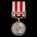 Indian Mutiny Medal 1857-1859, 1 Clasp: Lucknow, awarded to Quarter Master Thomas Smith, Royal Na...