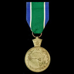 Ethiopia - Medal for the Ethiopian United Nations Mission to the Congo, 1960-1964. Circular gilt ...