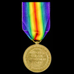 Victory Medal awarded to Private J. Allsop, North Staffordshire Regiment, later Royal Defence Corps.