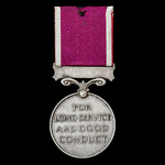 Regular Army Long Service and Good Conduct Medal, GVI 1st type bust, awarded to Bombardier T.G. B...