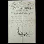 Germany - Imperial - Prussia: Award Certificate issued by Prussian Royal Order of the Crown 2nd C...