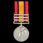 Queen's South Africa Medal 1899-1902, with ghost dates, 3 Clasps: Tugela Heights, Relief of Ladys...