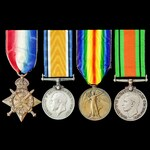 Great War 1914 Old Contemptible and Second World War Home Front group awarded to Private W. Pryce...