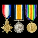 Great War 1914-1915 trio awarded to Private P.R. Tomlinson, 12th Service Battalion later 2nd Batt...