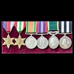   A Second World War Italy, Efficiency Medal and Service Medal of the Order of Saint John 'doubl...