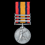 A Queen's South Africa Medal 1899-1902, 3 Clasps: Cape Colony, Paardeberg, Driefontein, awarded t...