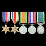  A scarce Second World War Middle East and Militia Reserve Efficiency Medal group awarded to Se...