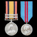   A South Africa Boer War and Coronation Medal 1911 pair awarded to Private G. Wright, Essex Reg...