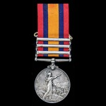 ​  A Queen's South Africa Medal 1899-1902, 3 Clasps: Cape Colony, Wittebergen, South Africa 1901,...