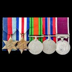 Second World War North West Europe Campaign Regular Army long service group awarded to Sergeant N...
