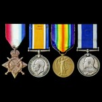 Great War 1914 to 1915 Channel operations and long service group awarded to Petty Officer 2nd Cla...