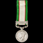 India General Service Medal 1936-1939, 1 Clasp: North West Frontier 1937-39, awarded to a Lance D...