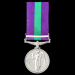 General Service Medal 1918-1962, GVI 1st type bust, 1 Clasp: Palestine, awarded to Private W. Jac...