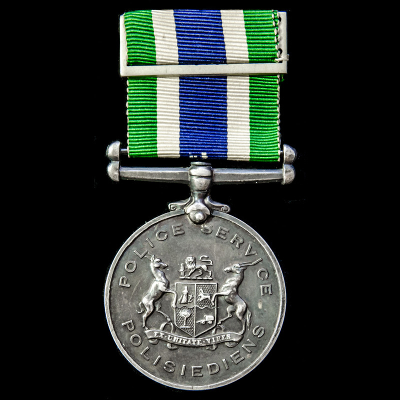 South African Police Good Ser.   London Medal Company
