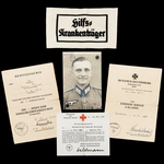 Germany – Third Reich: The Heiligenbeil Pocket Iron Cross 2nd Class and Tank Combat Badge in Bron...