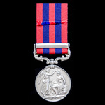 An India General Service Medal 1854-1895, 1 Clasp: Burma 1885-7, awarded to Private George Woolle...