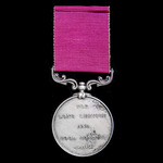 An Army Long Service and Good Conduct Medal, Victoria small letter reverse, awarded to Private Ch...