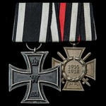 Germany - Imperial: Pair of awards: Iron Cross 1914 2nd Class, unmarked; Honour Cross 1914-1918 w...