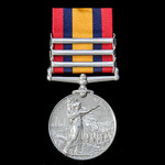 Queen's South Africa Medal 1899-1902, with ghost dates, 3 Clasps: Cape Colony, Orange Free State,...