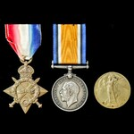   A Great War Australian Battle of the Somme Casualty group awarded to Private E. Burke, 24th Ba...