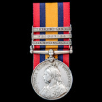 Queen's South Africa Medal 1899-1902, 3 Clasps: Defence of Ladysmith, Transvaal, Laing's Nek, awa...