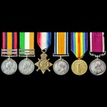 South Africa Boer War, Great War 1914 Old Contemptible and long service group awarded to Sergeant...