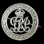 Silver War Badge, reverse numbered: '315847', awarded to Private G.L. Davies, Liverpool Regiment,...