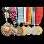 The Important Mounted Group of 7 Decorations and Medals worn by His Excellency Jordanian Lieutena...
