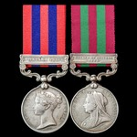India North West Frontier Hazara 1891 and Relief of Chitral 1895 pair awarded to Sepoy Gutta, 37t...