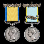 Baltic 1854 and Crimean War Sea of Azoff operations pair awarded to Private Thomas Gringell, Roya...