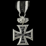 Germany - Imperial: Iron Cross 1870, 2nd Class, not ring stamped, with the rare 25 Year Jubiläums...