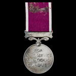 Regular Army Long Service and Good Conduct Medal, GVI 1st type bust, awarded to Bombardier C.L. T...