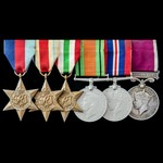 Second World War North Africa and Italy and Regular Army long service group awarded to Warrant Of...