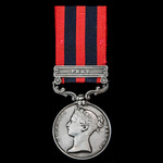 India General Service Medal 1854-1895, 1 Clasp: Pegu, awarded to Private John Thorpe, 51st (2nd Y...