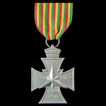 Ethiopia, Star of Victory 1941, large Coptic cross surmounted by the Ethiopian Imperial crown wit...