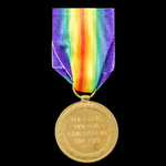 Victory Medal, awarded to Gunner C.B. Dodd, Royal Artillery, who served as a member of the 19th H...