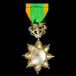 France – Annan Protectorate. Imperial Order of the Dragon, Knight Class, in silver enamels.
