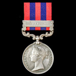 India General Service Medal 1854-1895, 1 Clasp: Perak awarded to Private J. Butler, 1st Battalion...
