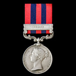 India General Service Medal 1854-1895, 1 Clasp: Perak awarded to Private J. Handley, 1st Battalio...