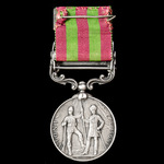 India General Service Medal 1895-1902, 1 Clasp: Punjab Frontier 1897-98, awarded to Private J. St...