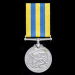 A Korea Medal 1950-1953, 1st type obverse, awarded to Private A. Murphy, Royal Scots, who saw ser...