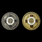 New South Wales Railway Ambulance Corps Efficiency Badge, two, one in gold and one in silver, bot...