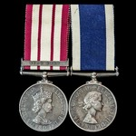 Near East Suez Crisis Operation Musketeer and subsequent Submariner's long service pair awarded t...