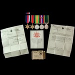 Second World War Burma Mention in Despatches and Territorial long service group awarded to Sergea...