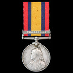 Queen's South Africa 1899-1900, 1 Clasp: Transvaal, awarded to Private L.A. Cruikshank, Vallentin...