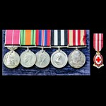 ​  A fine Second World War home service British Empire Medal and double long service group awarde...