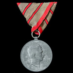 Austria - Empire: Tirol Medal 1914-1918. Mounted on old trifold ribbon.